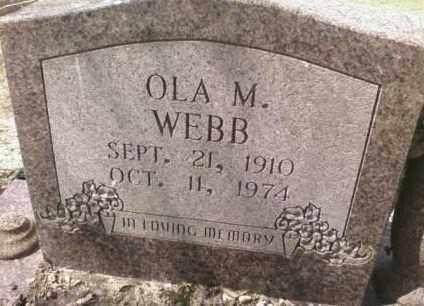 WEBB, OLA M. - Saline County, Arkansas | OLA M. WEBB - Arkansas Gravestone Photos