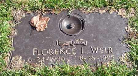 WEIR, FLORENCE L. - Saline County, Arkansas | FLORENCE L. WEIR - Arkansas Gravestone Photos