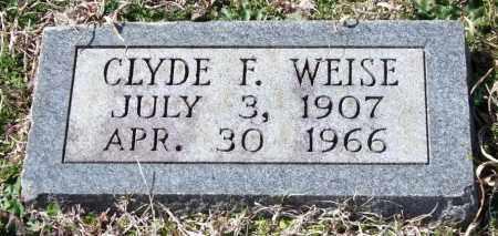 WEISE, CLYDE F. - Saline County, Arkansas | CLYDE F. WEISE - Arkansas Gravestone Photos