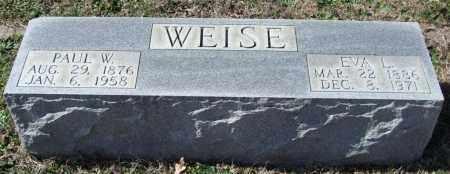 WEISE, EVA L. - Saline County, Arkansas | EVA L. WEISE - Arkansas Gravestone Photos