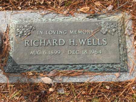 WELLS, RICHARD HOBSON - Saline County, Arkansas | RICHARD HOBSON WELLS - Arkansas Gravestone Photos