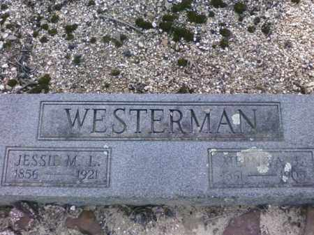 WESTERMAN, JESSIE M.L. - Saline County, Arkansas   JESSIE M.L. WESTERMAN - Arkansas Gravestone Photos