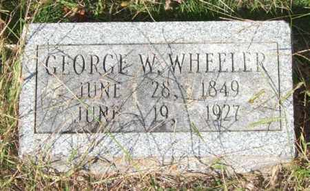 WHEELER, GEORGE W. - Saline County, Arkansas | GEORGE W. WHEELER - Arkansas Gravestone Photos