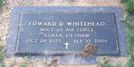 WHITEHEAD (VETERAN 2 WARS), EDWARD D - Saline County, Arkansas | EDWARD D WHITEHEAD (VETERAN 2 WARS) - Arkansas Gravestone Photos