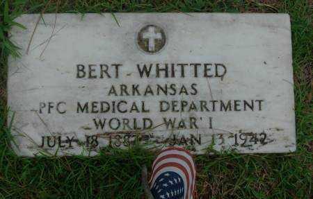 WHITTED  (VETERAN WWI), BERT - Saline County, Arkansas | BERT WHITTED  (VETERAN WWI) - Arkansas Gravestone Photos