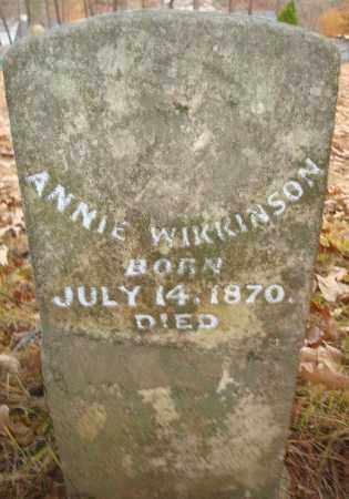WIKKINSON, ANNIE - Saline County, Arkansas | ANNIE WIKKINSON - Arkansas Gravestone Photos