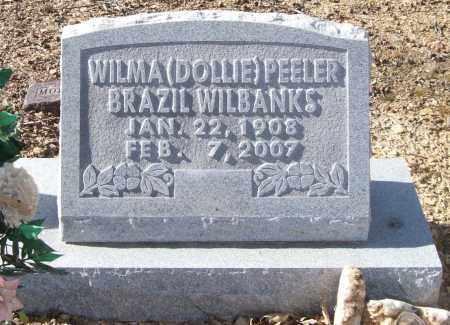 "PEELER WILBANKS, WILMA DELORES ""DOLLIE"" - Saline County, Arkansas | WILMA DELORES ""DOLLIE"" PEELER WILBANKS - Arkansas Gravestone Photos"
