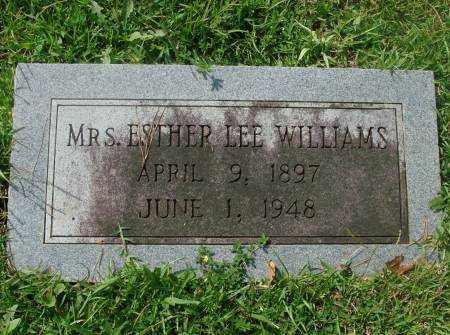 WILLIAMS, ESTHER - Saline County, Arkansas   ESTHER WILLIAMS - Arkansas Gravestone Photos