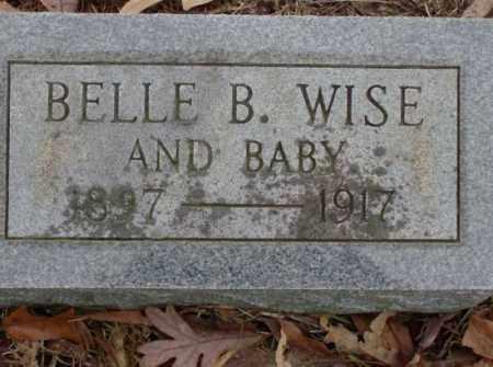 WISE, BELLE B. - Saline County, Arkansas | BELLE B. WISE - Arkansas Gravestone Photos