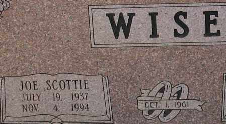 WISE, JOE SCOTTIE (CLOSEUP) - Saline County, Arkansas | JOE SCOTTIE (CLOSEUP) WISE - Arkansas Gravestone Photos
