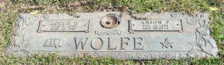 WOLFE, LOTTIE D. - Saline County, Arkansas | LOTTIE D. WOLFE - Arkansas Gravestone Photos