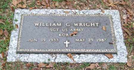 WRIGHT (VETERAN KOR), WILLIAM G - Saline County, Arkansas | WILLIAM G WRIGHT (VETERAN KOR) - Arkansas Gravestone Photos