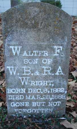 WRIGHT, WALTER F - Saline County, Arkansas | WALTER F WRIGHT - Arkansas Gravestone Photos