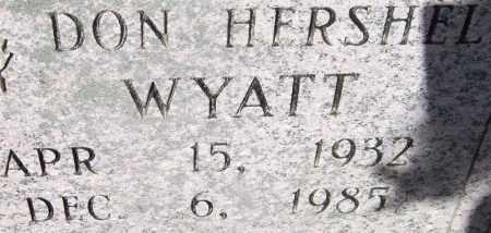 WYATT, DON HERSHEL - Saline County, Arkansas   DON HERSHEL WYATT - Arkansas Gravestone Photos
