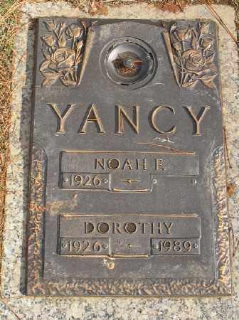 YANCY, DOROTHY - Saline County, Arkansas | DOROTHY YANCY - Arkansas Gravestone Photos