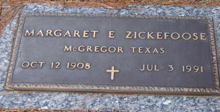 ZICKEFOOSE, MARGARET E. - Saline County, Arkansas | MARGARET E. ZICKEFOOSE - Arkansas Gravestone Photos