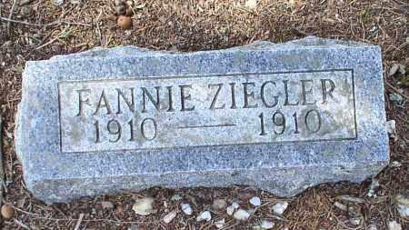ZIEGLER, FANNIE - Saline County, Arkansas   FANNIE ZIEGLER - Arkansas Gravestone Photos
