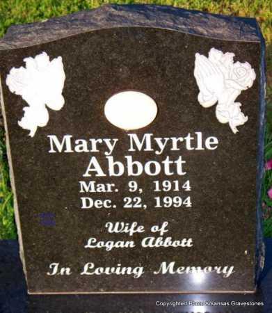 ABBOTT, MARY MYRTLE - Scott County, Arkansas | MARY MYRTLE ABBOTT - Arkansas Gravestone Photos