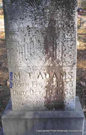 ADAMS, M T - Scott County, Arkansas | M T ADAMS - Arkansas Gravestone Photos