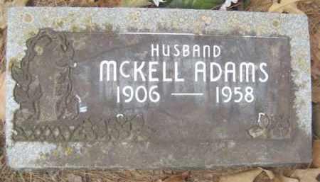 ADAMS, MCKELL - Scott County, Arkansas   MCKELL ADAMS - Arkansas Gravestone Photos
