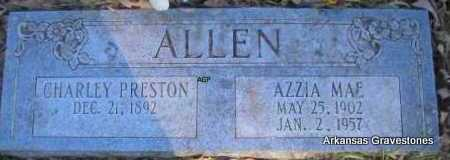 ALLEN, CHARLEY PRESTON - Scott County, Arkansas | CHARLEY PRESTON ALLEN - Arkansas Gravestone Photos