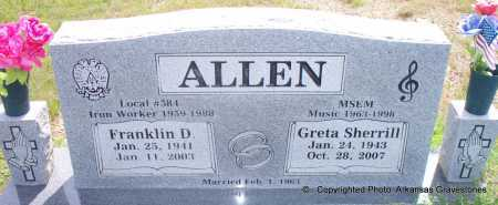 ALLEN, GRETA - Scott County, Arkansas | GRETA ALLEN - Arkansas Gravestone Photos