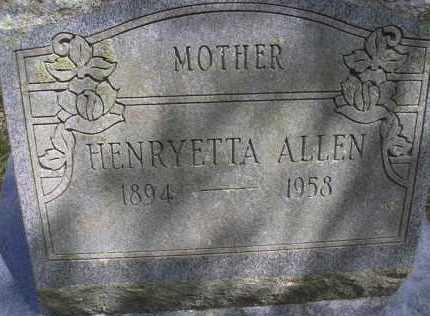 ALLEN, HENRYETTA - Scott County, Arkansas | HENRYETTA ALLEN - Arkansas Gravestone Photos