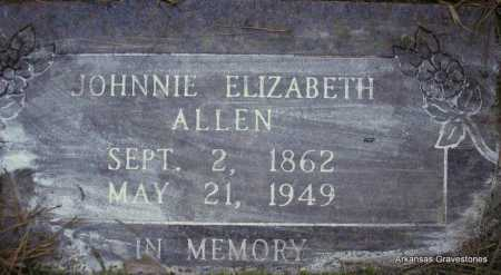 ALLEN, JOHNNIE ELIZABETH - Scott County, Arkansas | JOHNNIE ELIZABETH ALLEN - Arkansas Gravestone Photos