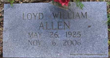 ALLEN, LOYD WILLIAM - Scott County, Arkansas | LOYD WILLIAM ALLEN - Arkansas Gravestone Photos