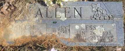 ALLEN, JESS C - Scott County, Arkansas | JESS C ALLEN - Arkansas Gravestone Photos
