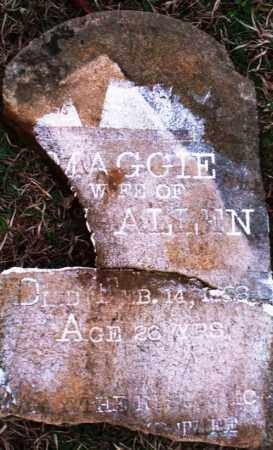 ALLEN, MAGGIE - Scott County, Arkansas | MAGGIE ALLEN - Arkansas Gravestone Photos