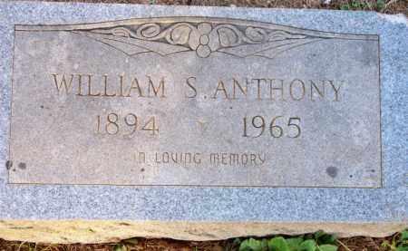 ANTHONY, WILLIAM S - Scott County, Arkansas   WILLIAM S ANTHONY - Arkansas Gravestone Photos