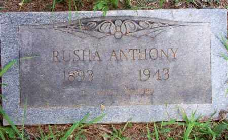 ANTHONY, RUSHA - Scott County, Arkansas | RUSHA ANTHONY - Arkansas Gravestone Photos