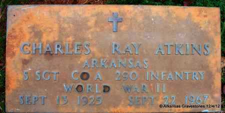 ATKINS (VETERAN WWII), CHARLES RAY - Scott County, Arkansas | CHARLES RAY ATKINS (VETERAN WWII) - Arkansas Gravestone Photos