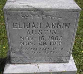 AUSTIN, ELIJAH ARNIM - Scott County, Arkansas | ELIJAH ARNIM AUSTIN - Arkansas Gravestone Photos