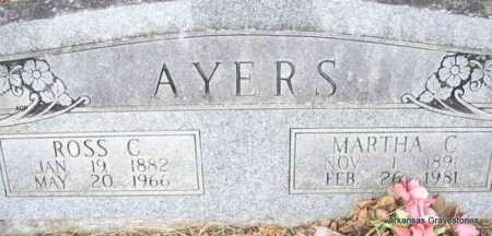 AYERS, MARTHA C - Scott County, Arkansas | MARTHA C AYERS - Arkansas Gravestone Photos