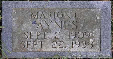 AYNES, MARION C - Scott County, Arkansas | MARION C AYNES - Arkansas Gravestone Photos