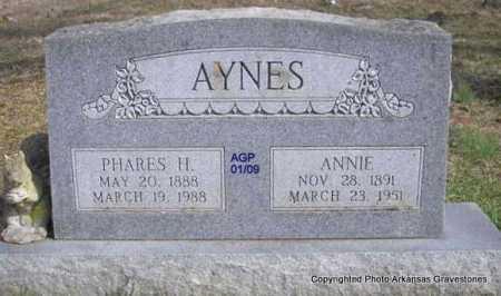 AYNES, PHARES H - Scott County, Arkansas | PHARES H AYNES - Arkansas Gravestone Photos