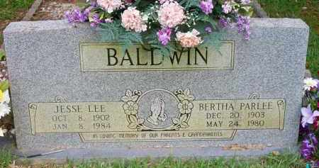 BALDWIN, BERTHA PARLEE - Scott County, Arkansas | BERTHA PARLEE BALDWIN - Arkansas Gravestone Photos