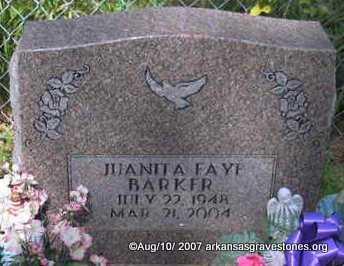"BARKER, JUANITA FAYE "" FAYE"" - Scott County, Arkansas | JUANITA FAYE "" FAYE"" BARKER - Arkansas Gravestone Photos"