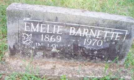 BARNETTE, EMELIE - Scott County, Arkansas   EMELIE BARNETTE - Arkansas Gravestone Photos