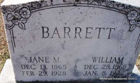 BARRETT, WILLIAM - Scott County, Arkansas | WILLIAM BARRETT - Arkansas Gravestone Photos