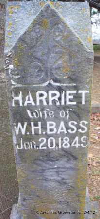 BASS, HARRIET - Scott County, Arkansas   HARRIET BASS - Arkansas Gravestone Photos