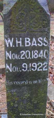 BASS (VETERAN CSA), WILLIAM HARVEY - Scott County, Arkansas   WILLIAM HARVEY BASS (VETERAN CSA) - Arkansas Gravestone Photos