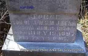 BEAM, GEORGE  (CLOSEUP) - Scott County, Arkansas | GEORGE  (CLOSEUP) BEAM - Arkansas Gravestone Photos
