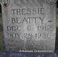 BEATTY, TRESSIE - Scott County, Arkansas | TRESSIE BEATTY - Arkansas Gravestone Photos