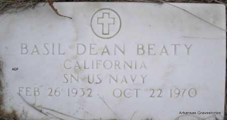 BEATY  (VETERAN), BASIL DEAN - Scott County, Arkansas | BASIL DEAN BEATY  (VETERAN) - Arkansas Gravestone Photos