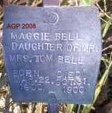 BELL, MAGGIE - Scott County, Arkansas   MAGGIE BELL - Arkansas Gravestone Photos