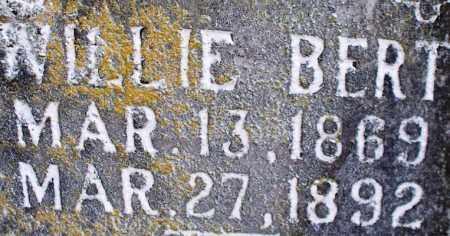 BERT, WILLIE - Scott County, Arkansas | WILLIE BERT - Arkansas Gravestone Photos