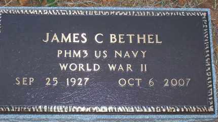 BETHEL,   (VETERAN WWII), JAMES CLAUDE - Scott County, Arkansas   JAMES CLAUDE BETHEL,   (VETERAN WWII) - Arkansas Gravestone Photos